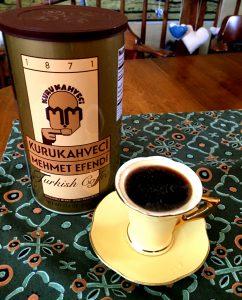 Turkish coffee beans ground